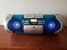 JVC RV-B550BU KABOOM BOOMBOX - CD RADIO TAPE CASSETTE - BLUE LIGHT - SCARCE UNIT