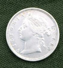Straits Settlements 1897 20 Cents Queen Victoria KM #12 * .800 Silver * VF