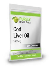 COD LIVER OIL 1000mg 360 Capsules Packaged Compliance to ISO 9001:15 & BCMPA