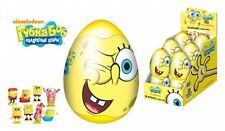 3pcs SpongeBob plastic egg surprise for boys Kinder toy party favors treats gift