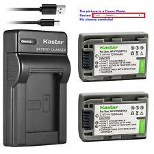 Kastar Battery Slim USB Charger for Sony NP-FP50 NP-FP51 Sony DCR-SR70 DCR-SR80