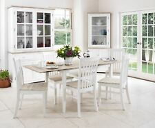 Florence wooden dining table + 6chairs.Large rectangular extending table QUALITY