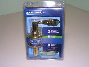 Schlage Bright Brass Accent Door Knob Levers - Hall & Closet Door Knob