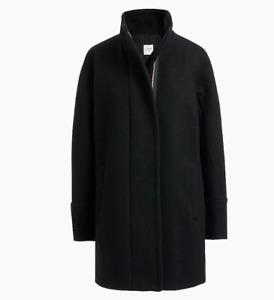 J.Crew Factory $238 New City Coat Black Size 18 Wool AB945