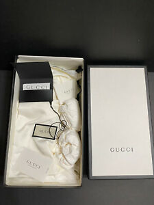Authentic Empty Gucci Slides Box - Original Everything 14.5 X 8.5 X 5.5 Inches