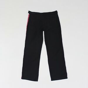 Pineapple Womens Size S M 29L Lightweight Loose Straight Black Cotton Trousers