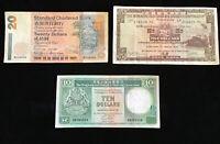 HONG KONG • 5 , 10 And 20 Dollar Banknotes  Circulated