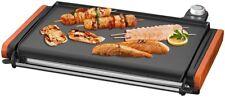 Maybaum Luxus XXL elektrischer Tischgrill 43cm Grill Grillplatte Plancha 2000W