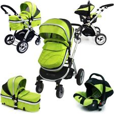 SALE iSafe 3 in 1 Pram System Lime Travel System Carseat
