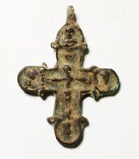 ZURQIEH -As17982-  ANCIENT HOLY LAND. BRONZE CROSS. BYZANTINE. 1000 - 1100 A.D