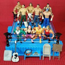 WWF Wrestling Ring Hasbro Vintage 90er Jahre + 10 Actionfiguren WWE Jakks
