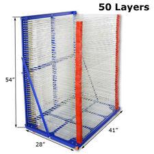 50 Layers Screen Printing Drying Rack Airing Shelf Shirt Screen Printing Machine