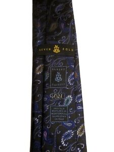 NEW Robert Talbott 🥇Seven-Fold🥇 💯% Silk Paisley Neck Tie 325$ Retail💰 NWT