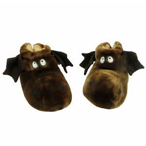 VINTAGE BULLWINKLE HOUSE SLIPPERS RARE CAROUSEL BY GUY STUFFED ANIMAL SHOES