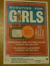 Scouting For Girls Edinburgh/Glasgow 2010 tour concert gig poster