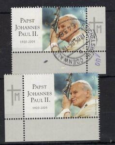 2x Deutschland - Pope John Paul II - CTO and MNH - AM3