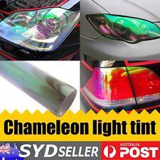 Chameleon Color Tint Vinyl Wrap Sticker Headlight Fog Car Tinting Film 30 x 80cm