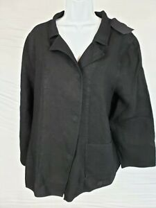 NWT Oska Jacke Nora Womens Jacket Black Long Sleeve Pocket Snap Closure Size 5