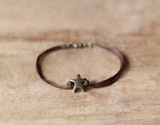 Bronze starfish men's bracelet brown cord nautical jewelry for men gift for him