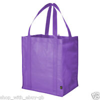 BN Reusable Grocery Tote Shopping Bag - Reinforced Base Shopper Coloured