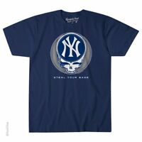 GRATEFUL DEAD-NEW YORK YANKEES-STEAL YOUR BASE-T SHIRT S-M-L-XL-XXL Garcia,Wier