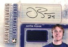 12-13 itg forever rivals justin pogge maple leafs blue jersey autograph auto