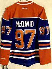 Reebok Women's Premier NHL Jersey Edmonton OIlers Connor McDavid Blue sz XL