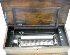 Antique Circa Swiss Cylinder Music Box 24 1/2 lb. 22 3/4'' x 11'' x 7''