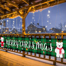 Merry Christmas Outdoor Tür Banner Curtain Home Decoration Ornaments B