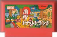 DONALD LAND McDonald's NINTENDO FAMICOM NES FC FAMILY COMPUTER