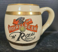 Antique 1905 Royal Beer Royal Brewing Kansas City Missouri Stoneware Mug