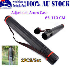 2PCS ARROW STORAGE CASE SUPER PORTABLE BLACK PLASTIC FOR COMPOUND BOWS ARCHERY P