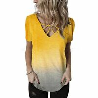 O Neck T-Shirt Fashion Floral Womens Elegant Casual Pullover Tops Jumper Solid
