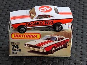 "Matchbox (Lesney) SF #74 ""ORANGE PEEL"" Hong Kong 1971 NEW w/Orig. Box - Vintage"