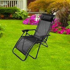 More details for textoline zero gravity deck chair recliner sun lounger outdoor garden patio
