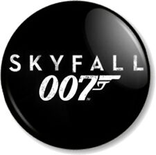 "James Bond Skyfall Logo Black 25mm 1"" Pin Button Badge Daniel Craig Movie 007"