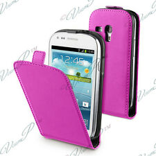 CASE COVER PU PINK STYLE GENUINE LEATHER + FILM SAMSUNG GALAXY S3 MINI
