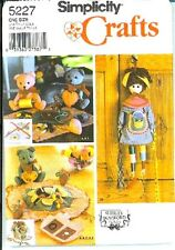 Simplicity 5227 Sewing Accessories/Doll/Bear Pattern