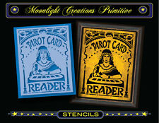 Halloween Stencil~Vintage~TAROT CARD READER 200~All Seeing Gypsy Fortune Teller