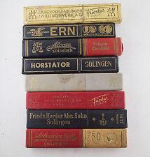 Vintage Straight Razor Boxes Henckels Ern Horstator Friedr Herder Alcoso