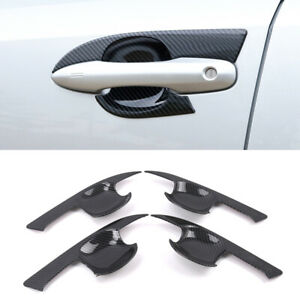 For Toyota Corolla E210 2019 2020 Black ABS Door Cup Bowl Frame Cover Trim 4pcs