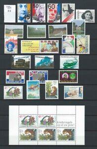Niederlande Jahrgang 1980 bis 1989 Postfrisch nach NVPH Komplett jaargang
