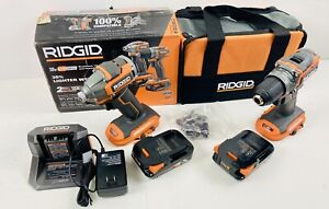 "RIDGID 18V SubCompact Brushless 1/2"" Drill/Driver and Impact Driver Combo Kit"