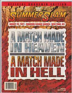 WWF Summerslam 1991 Program Macho Man Randy Savage Madison Square Garden Vintage