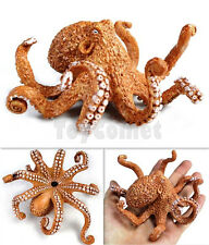 11cm Octopus Realistic Sea Animal Model Solid Plastic Figure Ocean Toy