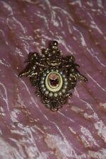 Spilla Bigiotteria putti e perline Brooch Broche vintage (1) (V3) ^