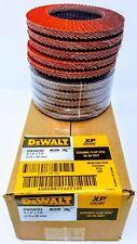 """(10) DEWALT DWA8282 4-1/2"""" X 7/8"""" 80 G T29 XP CERAMIC FLAP DISCS"""