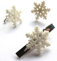 BEAUTIFUL HANDMADE SPARKLY SNOWFLAKE CUFFLINKS + TIE PIN SET + FREE GIFT BAG