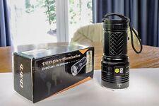 "Semlos ""10k Lumen"" Flashlight, Soda Can-sized 12 LED, Rechargeable Type..."