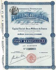 Cie Française de L' HOUHAME & DE la Nana Part Bénéficiaire 1900